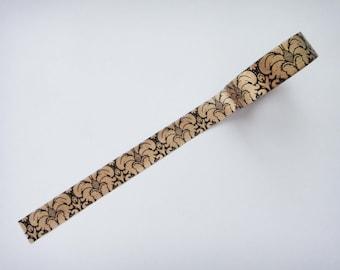 Cute Victorian Design Pattern Black And Copper Washi Paper Deco Tape