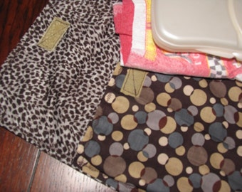 Diaper clutch, diaper and wipes case, coffee dots