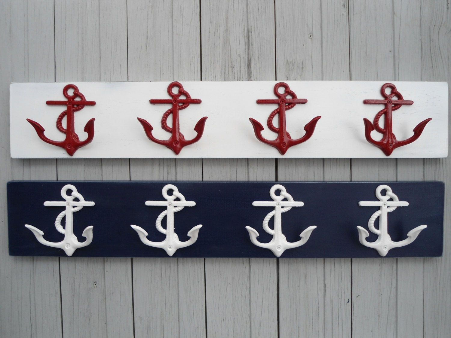 Anchor Towel Rack Beach Home Decor Wall Art Lake House Cottage Cabin River Mudroom Mancave Foyer