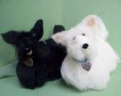 Scottie Dog Felted Wool Ornament