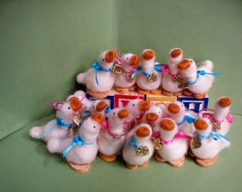 Duck Felted Wool Baby Shower Favor (Minimum 12)