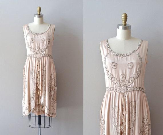 silk 1920s dress / vintage 20s dress / French Kiss dress