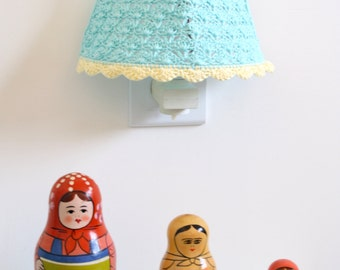 Crochet Lampshade / Night Light Crochet Lampshade