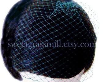 Petit Absinthe Dark GREEN Birdcage Veil