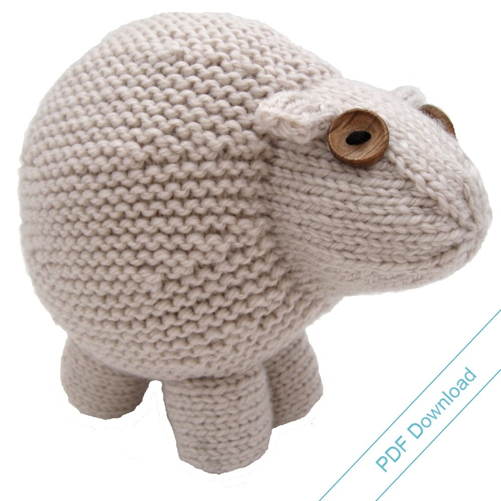 Knitting Pattern PDF. Toy Sheep. Knit Your Own by NattyKnits