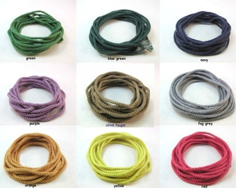 rope bracelet kit cotton cord colored cord macrame supplies DIY hand dyed color cord with instructions 2364
