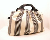 Top Seller - The Knitting Bag - Nautical Linen Cotton Ticking - Made to Order