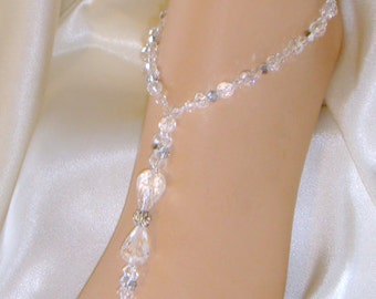 Gorgeous Crystal, Barefoot Sandals, Foot Jewelry, Beach Bride, Wedding Sandals, Beach Weddings. **FREE SHIPPING** Made in all Colors!