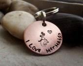 I love Mermaids Keychain