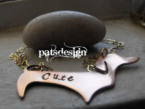 My cute copper Dachshund pendant  custom item