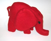 Small Red Baby Elephant Stuffed Animal  Washable Soft Plush Toy
