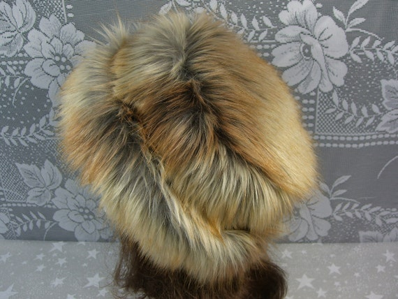 Fox Faux Fur Hat, Women's Fur Hat, Fox Gold Tip Fur Bucket Hat, All Fur Hat