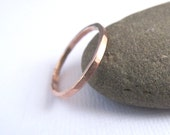 Rose Gold Band, Wedding Band, Stacking Ring, thin band