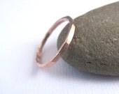 Rose Gold Band, Wedding Band, Stacking Ring