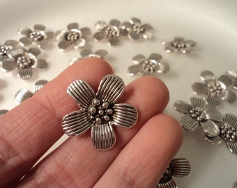 Flower Charms - set of 4 - #F131