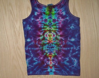 Pretty Purple Tie Dye Tank Ladies Large