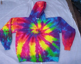 Rainbow Tie Dye Hoodie Size XL