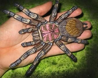 Chilean Rose Hair Tarantula Grammostola rosea Spider Iron on Patch