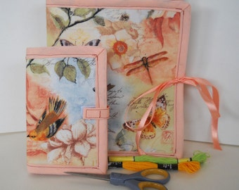 Spring Fling Sewing and Handwork Caddy Needle Book Organizer Set