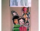 Strange Friends SURPRISE Sticker Set - a MIX of Handcut Stickers - instant graffiti, surprise pack