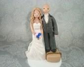 Customized Bride & Short Groom Wedding Cake Topper