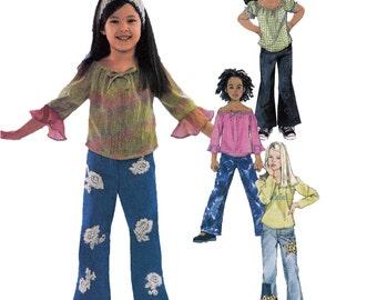 Girls Separates Sewing Pattern - McCalls 4193 - Size 6,7,8 - Childs Jeans Pattern - Uncut, FF - Girls Jeans Sewing Pattern