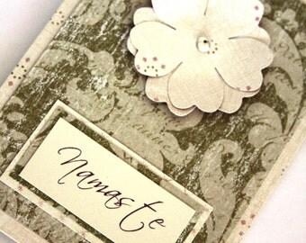 Handmade Card, Namaste Card, Floral Card, Vintage Card