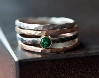 Emerald Stacking Ring