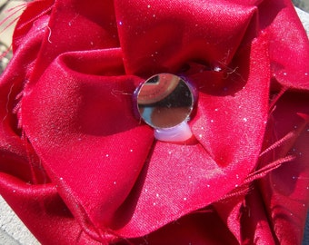 Red Satin Hair Clip