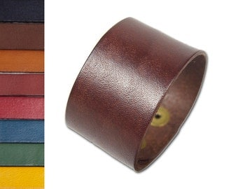 "Leather Bracelet Cuff Blanks (6, quantity discount) Firm High-Quality Leather in 1.5, & 2"" widths"