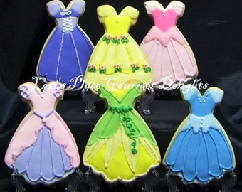 Princess Dress Cookies - 4.00 each