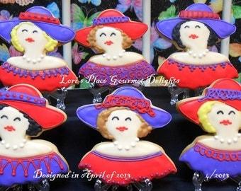 Red Hat Ladies - Inspired Cookies - 12 Cookies