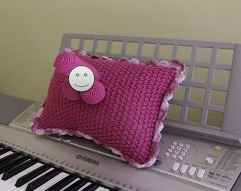 Original Gifts - Warning - Adults Only - Crocheted Willypillies - Penis Pillow in Rose Color