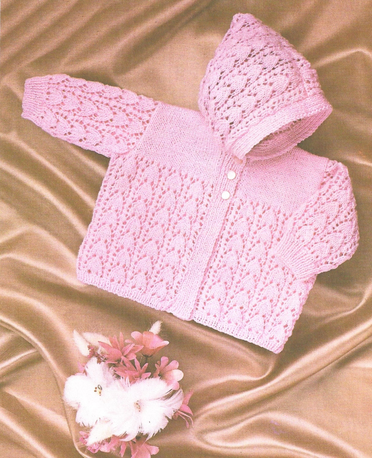 PDF Knitting Pattern Baby Knitted Hooded Coat/Jacket