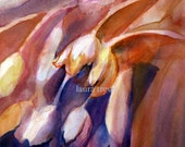 Cascading Tulips Giclee on Canvas