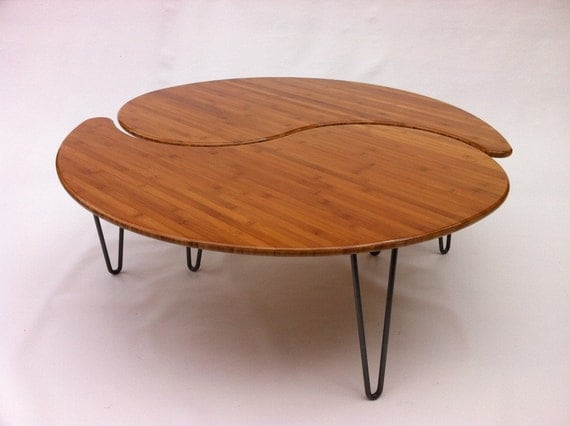 yin yang nesting large round coffee table mid century modern On table yin yang basse