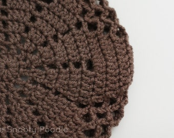 Beret Slouchy Hat in Taupe Brown