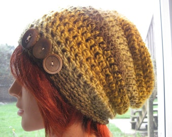 Multicolor Crocheted Slouch Hat 225/12