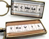 Men's Personalized Science Glass Chemistry Keychain - Variety of Colors Geek Nerd Breaking Bad Chemistry