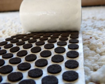 250 Self adhesive felt pads - brown 3/8 inch