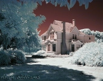 Old Western Ranch House - Infrared Photograph - 8.5 x 11
