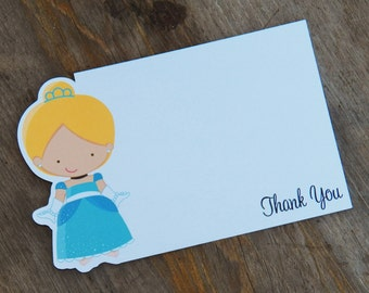 Princess Party - Set of 8 Cinderella Thank You Cards by The Birthday House