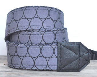 MADE TO ORDER - Camera Strap - Huevos Grey