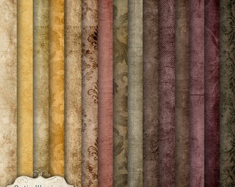Autumn Whispers - Digital Scrapbooking Papers - 15 Papers 12 x 12 inches - INSTANT DOWNLOAD -3.00