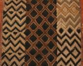 Vintage African Kuba Shoowa Cloth - Handwoven in the Congo DRC