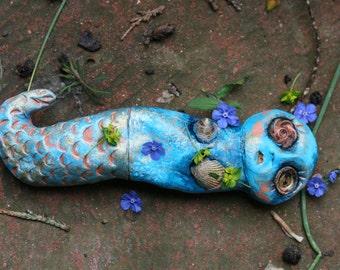 Ophelia the mermaid Art Doll