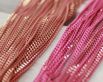 Shiny pink and light pink
