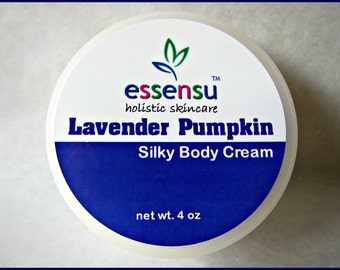 Lavender Pumpkin Silky Rich Body Cream Enriched with Rejuvenating Soya Butter | Luxury Spa Formula | Vegan | Custom Blended Scent - 4 oz