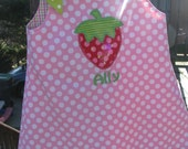 strawberry  aline dress, strawberry birthday, 1st birthday dress, 2nd birthday dress,