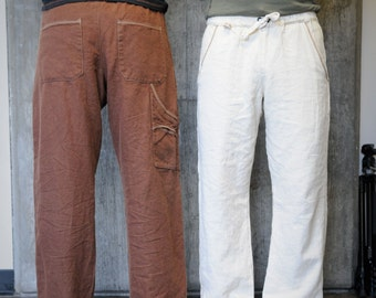 Evergreen Drawstring Pants/ Hemp and Tencel
